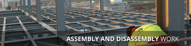 assembly and disassembly work
