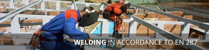 welding in accordance to EN 287